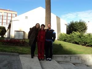 Com as professoras Marta Bobo e Cristina L. Villar da Univ. de A Coruña