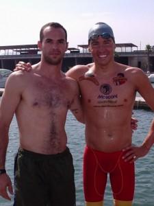 Marco e David Meca - BCN - Port 2004 - Desafio Natação