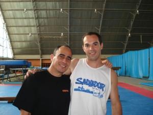 Marco e o professor cubano Angel Adriacan - em 2007 na FEF - UNICAMP