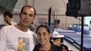 Marco e Daniele Hipolito - Camp. Brasileiro de Ginástica - POA - 2009
