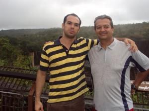 Marco e Prof. Milton de Abreu (UFMT) - Chapada Guimaraes - 2010