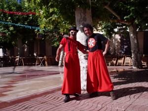 Eu e o amigo malabarista Xavier De Blas - Alpicat - Espanha - 2004