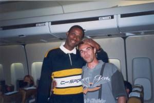 Marco e Robson Caetano, indo para Atlanta - EUA - 1996