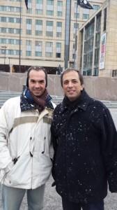 Passando frio com Rogério Valério em Oslo - Noruega, nov. 2014