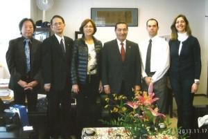 Encontro com reitor e diretor da Nippon Sport University - Tokio, Japão, nov. 2013