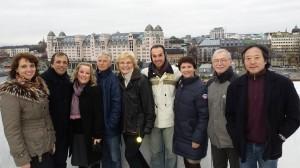 Oslo-Noruega, com CT de GfA da FIG, presidente e membros da Fed. de Ginástica da Noruega, nov. 2014
