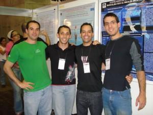 Orientandos no Congresso Pibic 2009: Mauricio, Marinho e Pedro