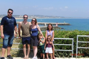 Leandro, filhos e nós em Portimão 2010