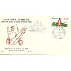Postal ginástica Brasil 1973