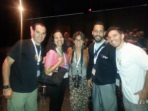 Com Jafet, Mallet e pessoal da Asociación ACIRC (de Puerto Rico) em Montreal, set. 2014