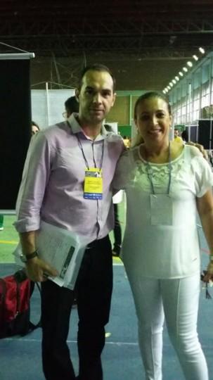 Com minha Profa. da graduação Roberta Gaio - SIGARC, USP, out. 2015