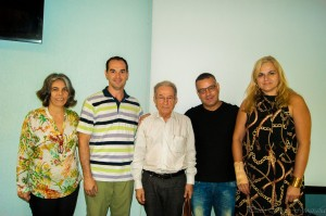 Heloisa Reis, eu, Prof. Saviani, Edivaldo e Clúadia - Aula Inaugural Pós FEF, março, 2015