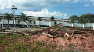 SP 304 (Americana - SP), dez-2014 Construção da Passarela