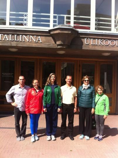Tallin Univeristy (Estonia), com amigos brasileiros (Vilma Nista-Piccolo, Elizabeth Paoliello, Eliana Ayoub, Giovanna Saroa) e o Prof. Viktor Saron