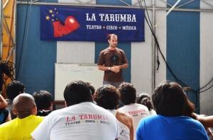 Palestra na Escola de Circo La Tarumba, Lima (Perú) 2013