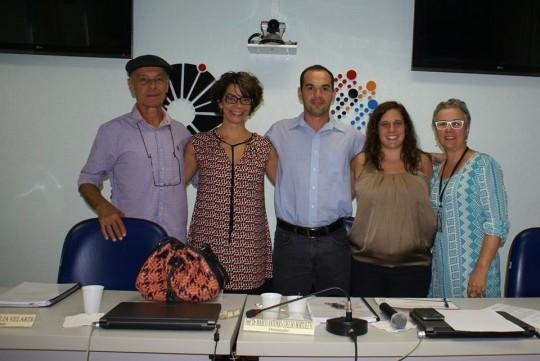 Defesa de doutorado Teresa Ontañon, fev 2016. João Freire, Marilia Velardi e Marcia Strazzacapa.